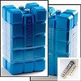 5 grosse Kühlelemente / Kühlakkus a 400 g für Kühltasche / Kühlbox inkl. einem Kühl- / Gefrierschrankthermometer