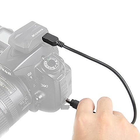 Micnova GPS-N-7 Caméra GPS Câble pour Nikon D3100 D3200 D5000 D5100 D7000 D90 D600 D7100 COOLPIX P7700