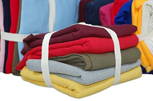Sweatshirt Fleece Gebürsteter Stoff, Reste Jersey-Material, 5 PCS-Bündel in gemischten Größen, ca. 1 kg Gewicht für die Herstellung von Bastelspielzeug und Patchwork, by Neotrims