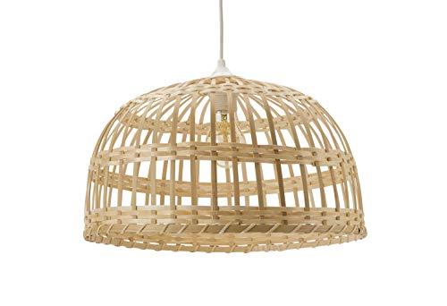 Luminaire - grande suspension PHUKET - Bambou - E27 60W (Naturel, ø40)