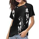 Photo de JEWold King Crimson Red Women's Baseball Short Sleeves Black Raglan T-Shirts Tee T Shirts for Women Tshirts Femme par JEWold