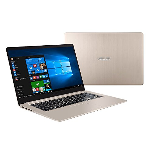 "Asus VivoBook S15 S510UQ-BQ488R Notebook, Display da 15.6"", Processore i5-8250U, 1.6 GHz, SSD da 128 GB e HDD da 1000 GB, 8 GB di RAM, nVidia GeForce 930MX, Gold/Metal [Layout Italiano]"