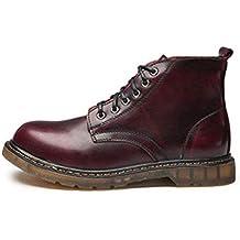 Fuxitoggo Calzado de Hombre Botines de Cuero clásicos con Cordones y Botines Oxford para Hombres (