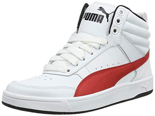 Puma Unisex-Kinder Rebound Street V2 L JR Hohe Sneaker, Weiß White-Ribbon Red Black 06, 35.5 EU