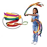 NUOLUX 12pcs Rainbow Ribbon Dance Ribbon Colored Ribbon (Multi-colored)