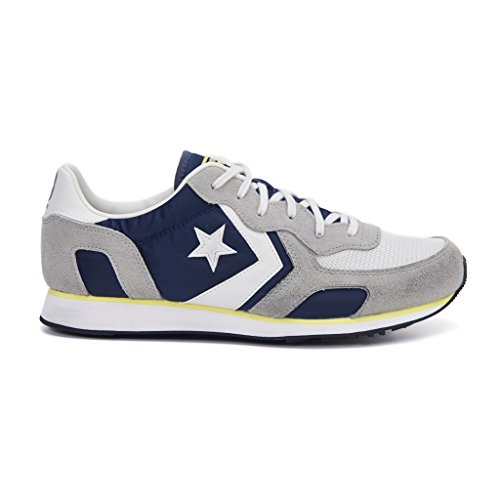 Converse Auckland Racer Distressed Ox, Sneakers Homme Multicolore (Athletic Navy/ghost Grey/buff)