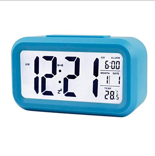 XIUHHE Digital Clock-Reloj Digital LED, Reloj de Mesa de Viaje ...