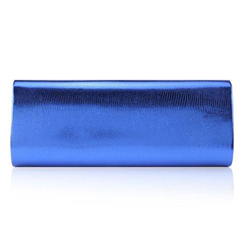 Damara® Ladies Tracolla In Pelle Pu Nobile Borsa Da Sera Blu