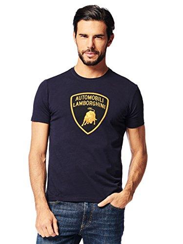 Automobili Lamborghini Herren T-Shirt Wappen Lamborghini Blue L - Lamborghini-shirt