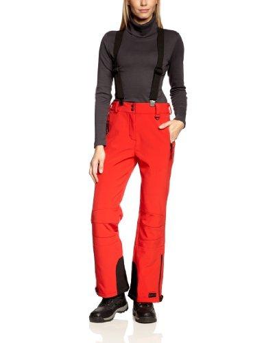 Killtec donna Soft Shell pantaloni con rimovibile Baren con bretelle e bordi rinforzati, red/nero, 44