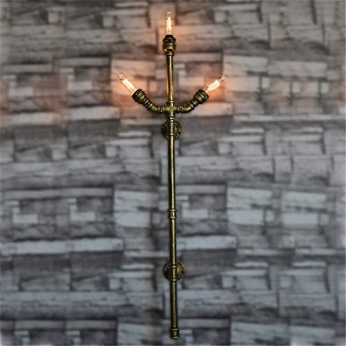 Große Wasserpfeife Wand Lampe European Industrial Retro Wind DREI Gabeln Wolfram Draht Handgefertigte Schmiedeeisen Wohnzimmer Zimmer E27 Wand-Montierte Nachtlampe 300 * 110 * 1200 (Mm) -