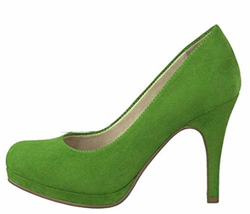 Tamaris Pumps 1-22407-20 Damenschuhe Plateau Stiletto, Schuhgröße:38;Farbe:Grün