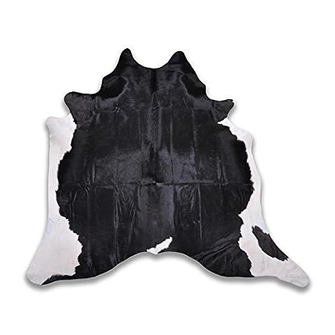 Five Grain Cow Hide–Various Colours & Sizes, black white, L 250 x B 230 cm