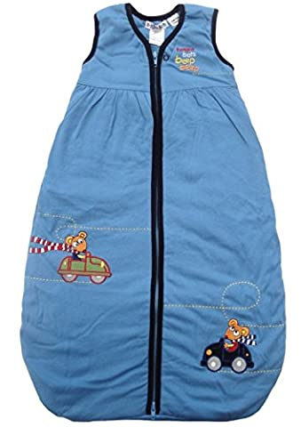 Bright Bots - 0-3 months Baby Sleeping bag cosy winter 3.5 Tog in Soft Jersey Cotton (up to approx 13lbs)