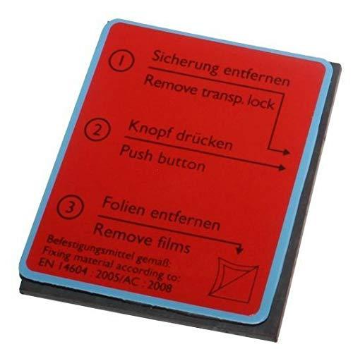 Ersatz Magnet-Gel Klebepad für Rauchwarnmelder Pyrexx PX-1 PX-1C Original von MBS-FIRE®
