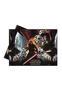 1 mantel * STAR WARS VII * para los niños y la fiesta de cumpleaños temática // Conjunto plástico Mantel niños de cumpleaños temática de La Fuerza despierta Lucasfilm Darth Vader Yoda de Star Wars Episodio Disney Kylo Ren