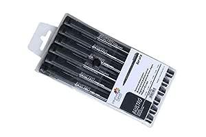 Brustro Professional Pigment Based Fineliner - Set of 6 (Black)