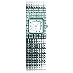 Don Simmons Grace NDS023; Ladies Japanese Movement, Studded with Swarovski Crystals Bracelet Watch