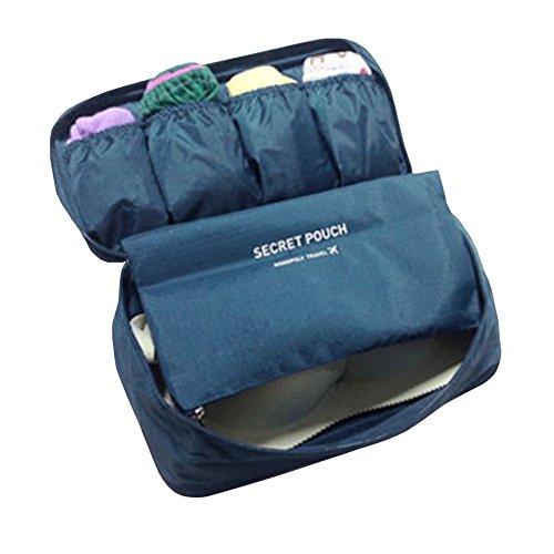 FunYoung Borsa stoccaggio biancheria intima - Borsa da viaggio in nylon tasca laterale toilette scelta impermeabile di colore borsa Marina