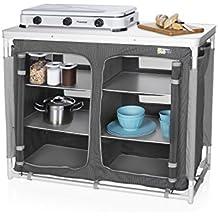 Campart Cocina de camping Madrid Travel KI-0734 – Seis compartimentos – Bolsa de almacenamiento incluida