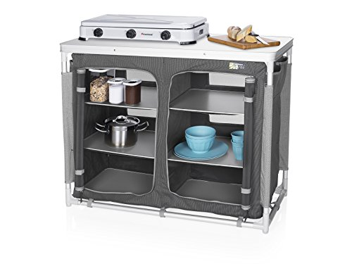 CAMPART Travel KI-0734 - Cocina de camping, color gris