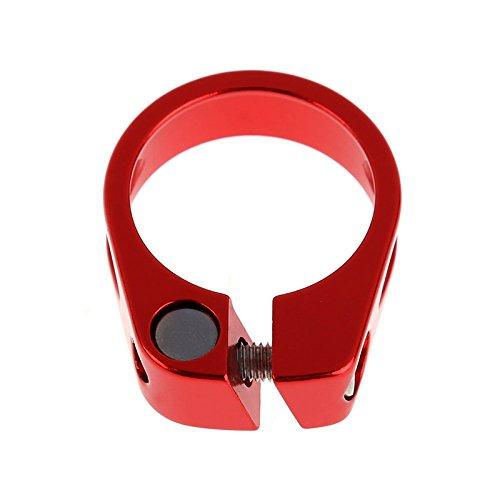 SODIAL 1 Pieza 31.8mm Bicicleta Ciclismo Asiento de Silla Fijacion de Poste Suelta la Abrazadera del Poste de sillin Piezas de Bicicleta-Rojo