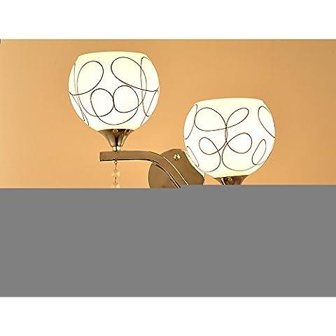 Parete in metallo illuminazione applique ombra,foglia di quercia regolabile Vintage industriale applique luce LampSimple a parete a doppio vetro lampade da