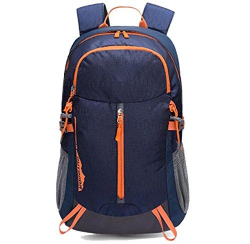 Leichte Reißen Wasserdichte Nylon Rucksack Reise Trekking Tasche Wandern Dayback Urlaub Taschen,Red Blue