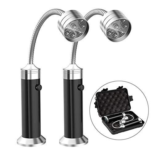 Stücke LED Grill Lampe Mit Plastikbox 360°Verstellbare BBQ Lampe Magnetische Flexibel BBQ Licht Outdoor Grill Taschenlampe Arbeitsleuchte Werkstattlampe Werkzeuge Set ()