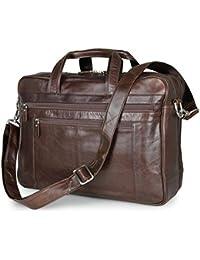 520e70bd03013 Portfolio Aktentaschen aus weichem Leder für Männer 17-Zoll-Laptop-Tasche  Business-