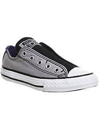 Converse Mandriles niños 651762C All Star Slip Gris Dolphin Negro Showtime púrpura