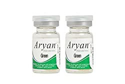 Aryan 1 Tone Contact Lens - 2 Pieces (-14.5, Green)
