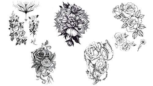 3 feuilles Henné Tatouages Temporaires Métalliques tatouages bijoux de peau Or Rose Vert yh0 Bracelet Mandala Tatouages Flash