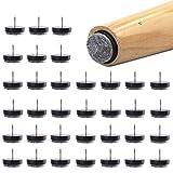 48 Pcs Clous Patins de Meuble, SNAGAROG Patins Glisseurs Rond Ø 24mm Anti-Rayures Plancher, Patins Meubles en Feutre Tampons pour Protection Pieds de Table Chaise Meubles(Noir)