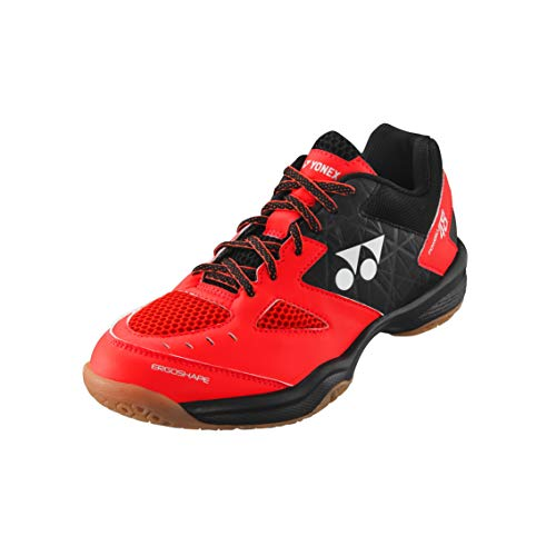 YONEX Power Cushion 48 Men RED/Black 2019 (41, Red/Black)