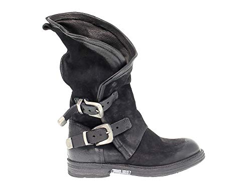 A.S. 98 Damen 227309 Schwarz Leder Stiefel