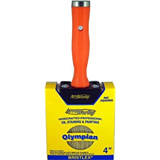 Arroworthy 30250 4-Inch Professional Polyester Olympian Oil Staining and Painting Brush by Arroworthy