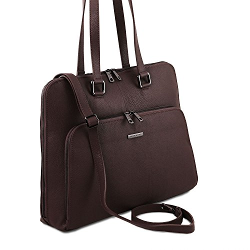 Tuscany Leather Lucca Borsa business TL SMART in pelle morbida per donna Nero Testa di Moro