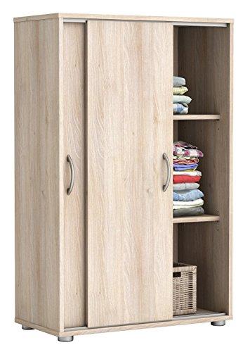 Wäscheschrank Selina Akazie 2 Türen B 68 cm H 106 cm Jugendzimmer Schlafzimmer Kinderzimmer Schrank Schiebetürenschrank Holzschrank Kleidersch -