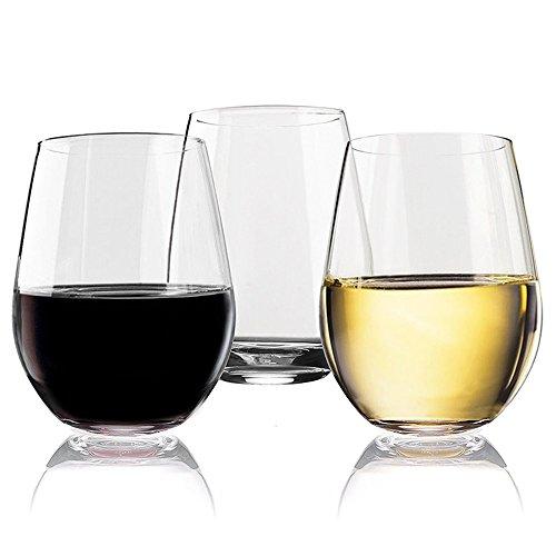 XBJBPL Copa De Vino/Copas De Vino Tinto,4 Unid/Set Vidrio De Vino Irrompible Copa De Vino Irrompible Vaso De Vino Vasos Copas Reutilizables Vaso De Fruta Transparente Taza De Cerveza, 401-500Ml