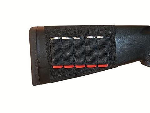 GrovTec GTAC82 Buttstock Cartridge Shell Holder, Black (Shotgun)