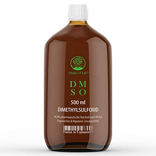 DMSO - 500 ml - 99,9{de8305713abb87aff4b610127f9f1b330d4ed6dbde3a243d96c1b473cd5f0eb8} Rein - pharmazeutische Reinheit nach Ph. Eur. - unverdünnt - flüssig – Dimethylsulfoxid - Einführungspreis – ohne Zusatzstoffe - Made in Germany