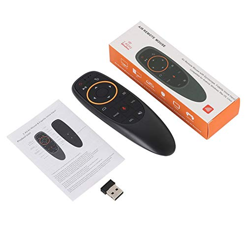 2 4G Wireless Voice Remote Control Mouse IR Learning 6-axis Gyroscope for  Android TV Box TX92 VONTAR For Google Assistant - Black