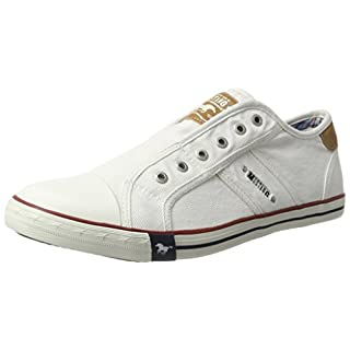 Mustang 4058401, Herren Sneakers, Weiß (1 Weiss), 42 EU