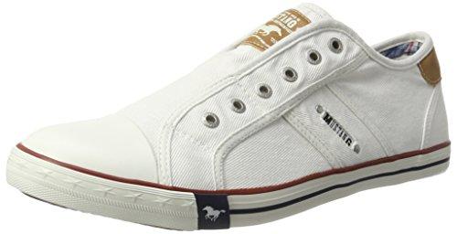 Mustang 4058401, Herren Sneakers, Weiß (1 Weiss), 44 EU