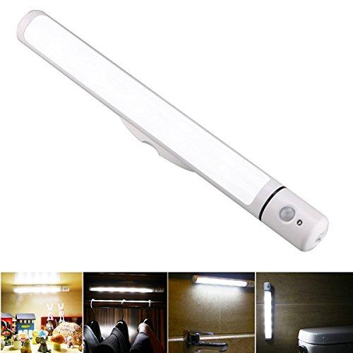 FiveRen Motion Sensor Licht, drahtlos rotierende LED Schrank Licht mit Magnetstreifen und 3 Modi, Stick-on überall Licht Bar für Schlafzimmer, Badezimmer, Camping, Flur, Treppe, Schrank, Kleiderschrank