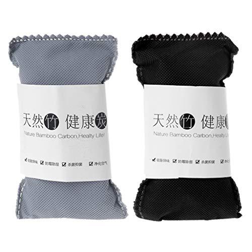 Junlinto Natürlicher Bambusholzkohle-Beutel-Aktivkohle-Paket-Lufterfrischer für Auto-Haus -