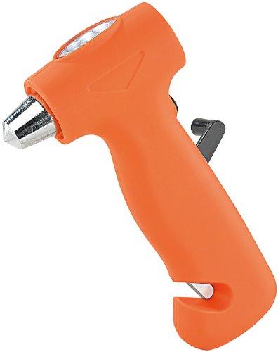 PEARL 3in1-Notfallhammer mit Dynamo-Taschenlampe & Gurtschneider