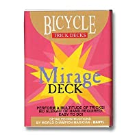 Bicycle Mirage Playing Cards Trick Deck (RED) Edition Box by Penguin Magic