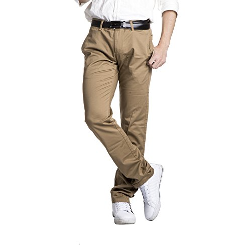 Robelli Homme Designer Suit Coupe Extensible Pantalon Chino Beige